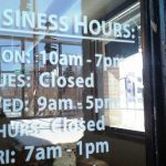 Business Hours of Operation Cut Vinyl Lettering