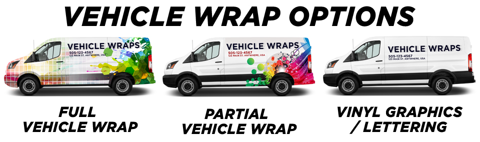 Roselle Vehicle Wraps vehicle wrap options