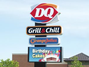 Chicagoland Pole Signs & Pylon Signs 0092 Dairy Queen Bendsen Sign  Graphics W 19mm 80x176 Bloomington IL 101718 1 300x225
