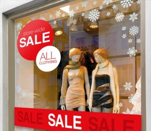 Bloomingdale Window Signs promotional sign 2 300x262