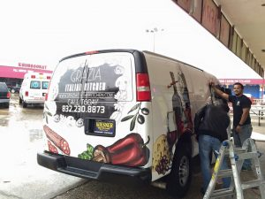 Franklin Park Vehicle Wraps custom vehicle wrap install outdoor 300x225