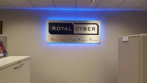 Chicagoland Lighted Signs Royal Cyber Indoor Lobby Sign Backlit 300x169